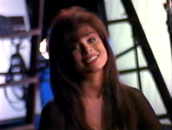 Still image from Captivated 92' interview with Paula Abdul